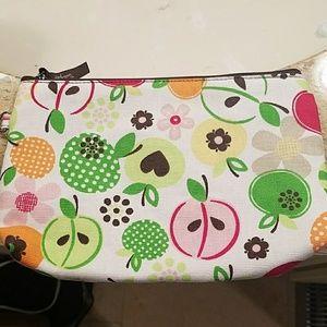 NWOT Fruit cosmetic bag